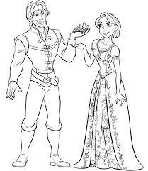 Rapunzel Kleurplaten Flynn Samen Met Rapunzel Coloring Pages