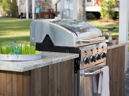 diy floating grill cabinet