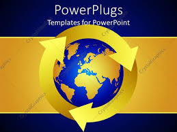 Blue And Gold Powerpoint Template Powerpoint Template Blue And Gold Colored Earth On A Blue And Gold