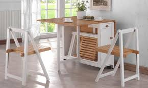 Image Of: Folding Kitchen Table And Chairs Set