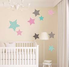 9 style star with diffe pattern wall sticker baby nursery heart dot with star wall decal