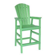 lime green poly lumber adirondack pub chair