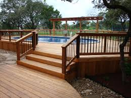 Wooden Pool Decks Pool Deck Ideas Made From Concrete Home Design