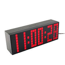 Nazaka | Wall <b>Clock</b> | 1 Piece Smart <b>Clock LED Digital</b> Fashion ...