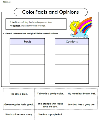 Awesome Collection of Fact Opinion Worksheets In Sample ...