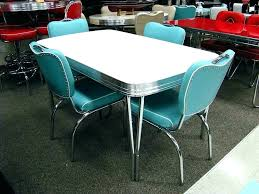 retro dining table set and chairs stunning suite chrome kitchen antique racers