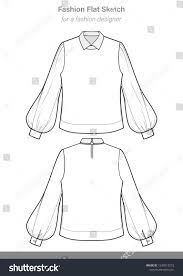 Design Your Own Clothes Template Blouse Fashion Flat Technical Drawing Template Design Your