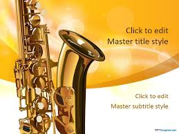 Music Powerpoint Template Free Saxophone Ppt Template