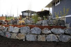 rock retaining wall