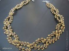 Picture Tute for gold and brown leaf-like <b>necklace</b> ~ <b>Seed Bead</b> ...