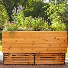 raised patio planter box raised