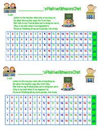 Positive Behavior Chart Pdf Version Uneditable