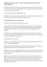 Anal sex tips for men