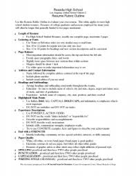 Simple Sample High School Graduate Resume Objective In New High ...