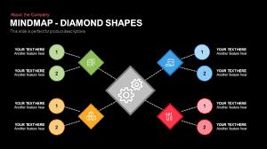 Mind Map Powerpoint Template Keynote Slide In Diamond Shapes