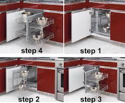 Kitchen Shelf Organization Kitchen Blind Corner Cabinet Organizer Chrome Baskets Pullout