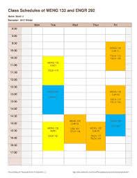 Class Schedule Template Online 18 Printable Class Schedule Template Online Forms Fillable Samples