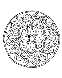 Easy Mandala Coloring Pages Pdf Downloadable Mandala Coloring Pages