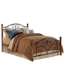 wood and wrought iron furniture. Doral Wood \u0026 Metal Bed Wood And Wrought Iron Furniture O