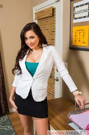 Karlee Grey screws her boss on a desk in nude stockings Naughty.