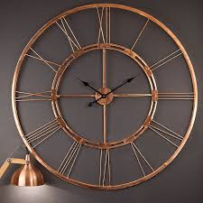 Small Picture 100 Copper Handmade Large 75cm Wall Clock Home Decor Hanging