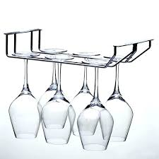 hanging wine glass rack 1 piece stainless steel bolt inserting clapboard 2 for bar