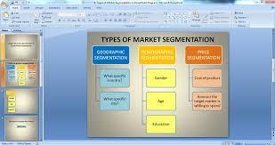 types of market segmentation graphics for making powerpoint diagrams types of market segmentation