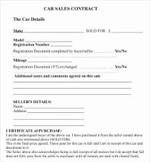 Purchase Agreement Vehicle Rv Purchase Agreement Template Used Car Sales Agreement Template