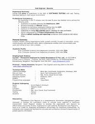 Sample Resume For Experienced Software Tester Inspirational Sample Resume format for 60 Years Experience In Testing 9