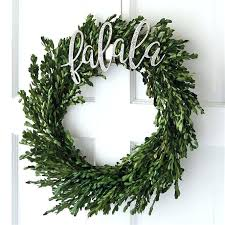 dried boxwood wreath preserved outdoor p