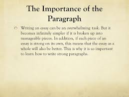 writing paragraphs using the ldquo c s rdquo the importance of the the importance of the paragraph writing an essay can be an overwhelming task