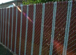 Delighful Chain Link Fence Slats This Is A Mix N Intended Decor
