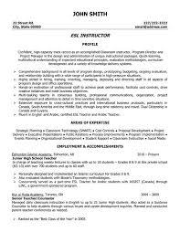esl teacher resume