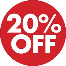 Image result for 20% discount