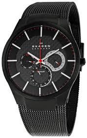 skagen men s sk809xltbb titanium black dial watch bossman watches skagen men s sk809xltbb titanium black dial watch