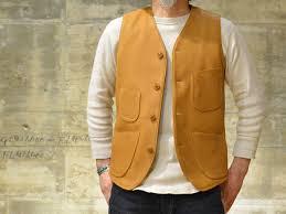 deerskin leather vest freewheelers darius yellow ochre