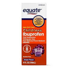 Details About Equate Childrens Ibuprofen Grape Suspension 100 Mg 4 Oz Exp 09 19