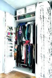 no closet solutions small storage room