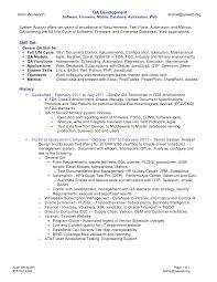 Sample Resume For Experienced Software Tester Qa Testing Sample Resume Resume Work Template 15