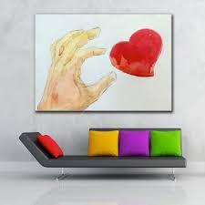 Kopen Embelish Gratis Verzending Hand En Hart Muur Posters Voor