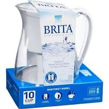 NIB Brita Water Filter Pitcher Monterey Model 2 Filters 10 Cup