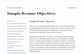 Objective For Resume Objectives On Resume Examples Of Objectives On Resumes Awesome 17