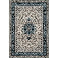 world rug gallery traditional oriental high quality blue medallion design 5 ft x 7 ft