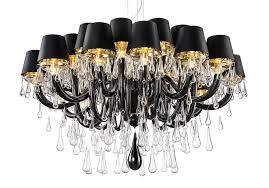 modern murano chandelier dmgouttes24k lighting from black shades with gold lining source