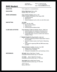 High School Student Resume High School Student Resume Template 30