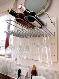 floating wine glass shelves wine rack storage with glasses holder floating shelf wine glass holder