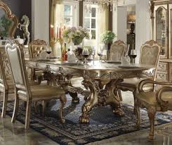 Dresden Gold Patinabone Wood Dining Table By Acme
