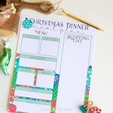 children menu planner christmas meal planning printables carrie elle