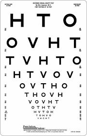 Logmar Chart Distance Hto Visual Acuity Card 3m Logmar Charts Optical
