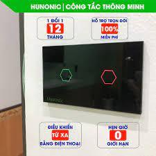 Công tắc WIFI HUNONIC 2 Nút Việt nam - Thiết bị điều khiển thông minh